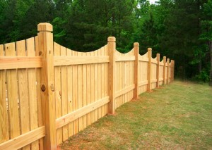 Дървени огради
